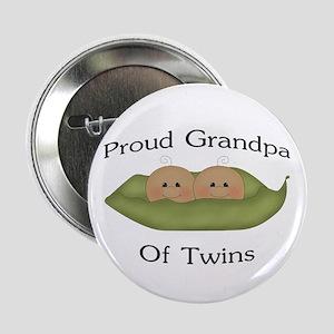 "Proud Grandpa Of Twins 2.25"" Button"