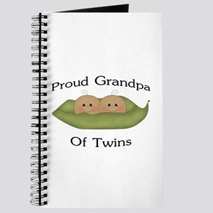 Proud Grandpa Of Twins Journal