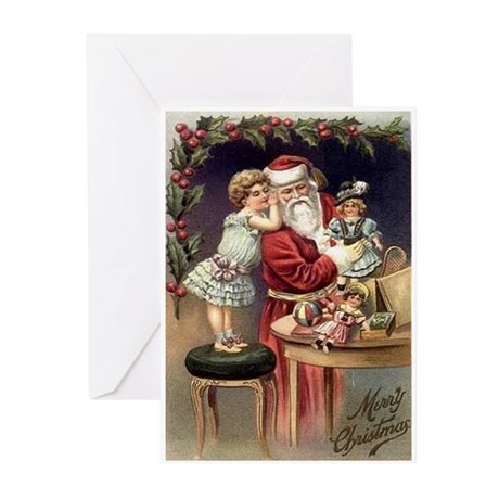 Victorian Santa Holiday Cards (Pk of 10)