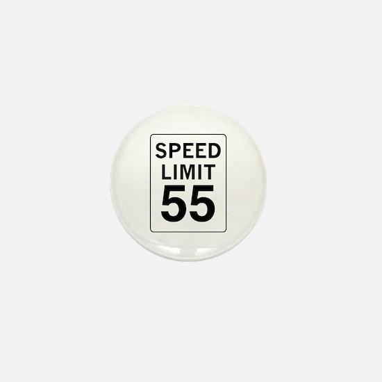 Speed Limit 55 Mini Button