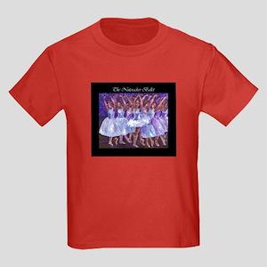 Nutcracker Snow Dance Kids Dark T-Shirt