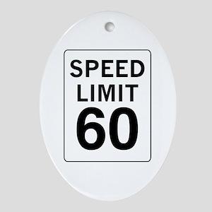 Speed Limit 60 Oval Ornament