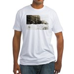 Snowed-in Front Street Fitted T-Shirt