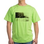 Snowed-in Front Street Green T-Shirt