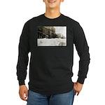 Snowed-in Front Street Long Sleeve Dark T-Shirt