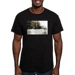 Snowed-in Front Street Men's Fitted T-Shirt (dark)