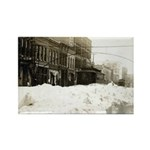 Snowed-in Front Street Rectangle Magnet (100 pack)