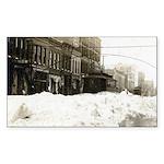 Snowed-in Front Street Rectangle Sticker 10 pk)