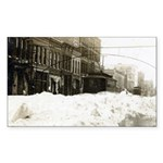 Snowed-in Front Street Rectangle Sticker