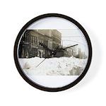 Snowed-in Front Street Wall Clock