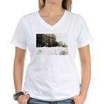 Snowed-in Front Street Women's V-Neck T-Shirt