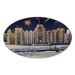 1937 Winter Carnival Ice Palace Oval Sticker