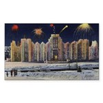 1937 Winter Carnival Ice Palace Sticker (Rectangle
