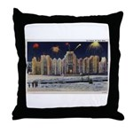 1937 Winter Carnival Ice Palace Throw Pillow