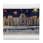 1937 Winter Carnival Ice Palace Tile Coaster