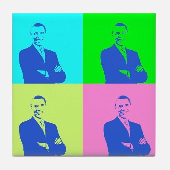 Cute Obama styles Tile Coaster