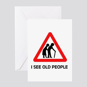DON'T RUN OVER OLD FOLKS Greeting Card
