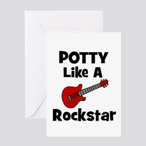 Potty Like A Rockstar with Gu Greeting Card