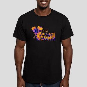 Hippie Vegan Men's Fitted T-Shirt (dark)
