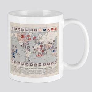 Vintage British Empire World Map (1910) Mugs
