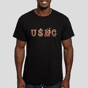 USMC (6) Men's Fitted T-Shirt (dark)
