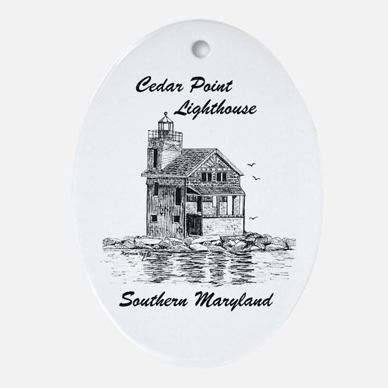 Cedar Point Lighthouse Oval Ornament