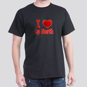 "I Love ""Up North"" Minnesota Dark T-Shirt"