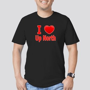 "I Love ""Up North"" Minnesota Men's Fitted T-Shirt ("