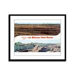 Mesaba Iron Range Framed Panel Print
