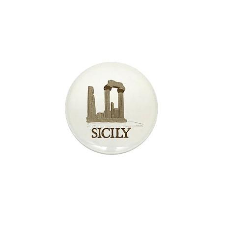 Agrigento Sicily Mini Button