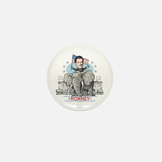 Romney GOP Elephant Mini Button