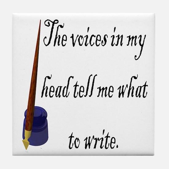 Writing Voices Tile Coaster
