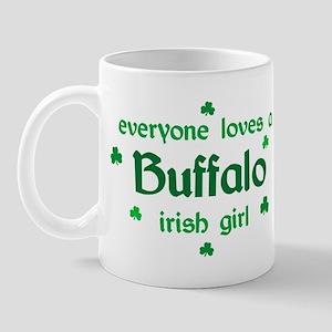 everyone loves a Buffalo irish girl Mug