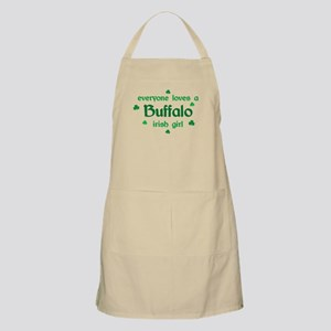 everyone loves a Buffalo irish girl BBQ Apron