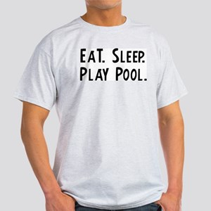 Eat, Sleep, Play Pool Ash Grey T-Shirt