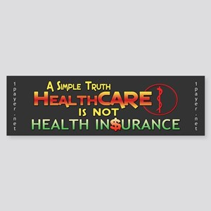 HealthCARE vs. Health Insurance Bumper Sticker
