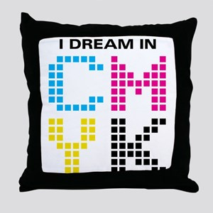 Dream In CMYK Throw Pillow