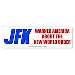 JFK's Warning of NWO Bumper Stkr 10 pk
