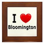 I Love Bloomington Framed Tile
