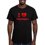 I Love Bloomington Men's Fitted T-Shirt (dark)