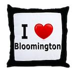 I Love Bloomington Throw Pillow