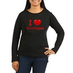 I Love Bloomington Women's Long Sleeve Dark T-Shir