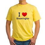 I Love Bloomington Yellow T-Shirt