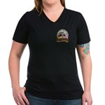 Fall of the Wall Women's V-Neck Dark T-Shirt