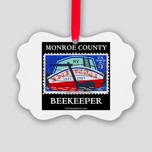 Monroe County Beekeeper Picture Ornament