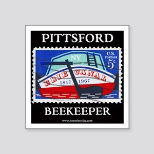 """Pittsford Beekeeper Square Sticker 3"""" X 3&quo"""