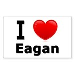 I Love Eagan Rectangle Sticker 50 pk)