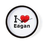 I Love Eagan Wall Clock