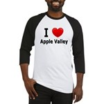 I Love Apple Valley Baseball Jersey