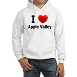 I Love Apple Valley Hooded Sweatshirt